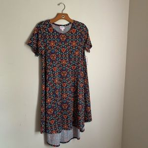 NWT! LULAROE Printed Carly Dress